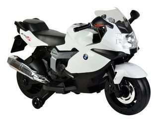 Chromewheels licensed BMW Ride On Motorcycle With light  amp  4 Songs   White