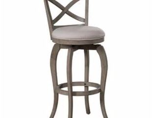 The Gray Barn Chatterly Aged Grey Swivel Counter height Stool   Retail 135 99