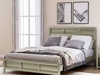 Andoer Moder Queen Platform Bed  Golden