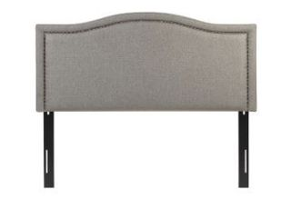 Augusta linen Upholstery Queen Headboard by Madison Park  light Gray