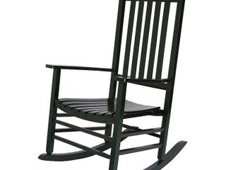 Shine Company Vermont Porch Rocker   Dark Green