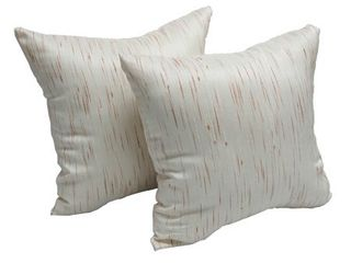Grey  Aspen Cafe 17 inch Accent Throw Pillow  Set of 2