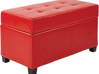 Metro Storage Ottoman Red