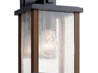 KICHlER Marimount 11 in  1 light Black Outdoor Sconce with Clear Glass