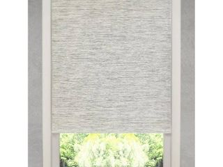 Natural Fiber Heather Grey Cordless Roller Shade