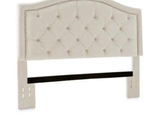 Abbyson Hillsdale Velvet Tufted Nailhead Trim Queen Headboard  Retail 228 99