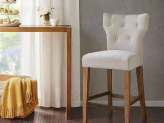 Madison Park Hayes Cream Tufted Back Counter Stool  Cream  Retail 167 99