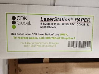 New  Cdk Global Paper   8 5x11 White 20  5000 Sheets Wh boc3 pp
