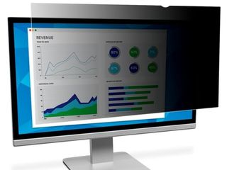 3M 24 in Privacy Filter for Widescreen Monitor  Black