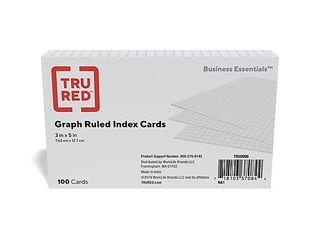 approximately 30 packages tru red graph ruled index cards tr50996