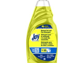 JOY Dishwashing liquid  lemon Scent  38 oz  Bottle