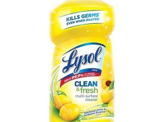lysol Power and Fresh All Purpose lemon Sunflower Scent Cleaner   48 oz