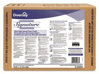 Diversey 5104950 Signature UHS Floor Finish  5 gal  8  x 15 5  x 11 5