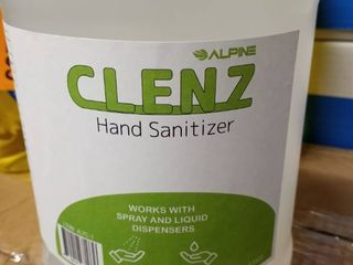 Alpine Industries Clenz 1 Gal  Commercial Instant liquid Hand Sanitizer Clear