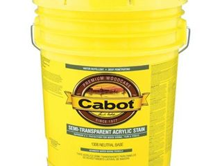 Cabot 1307 5 Gallon  Deep Base Semi Transparent Water Based Stain