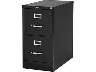 Staples 2 drawer letter Size Vertical File Cabinet  Black  26 5 inch