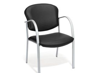 OFM Danbelle Series Model 414 VAM Contract Reception Chair  Anti Microbial Anti Bacterial Vinyl  Black