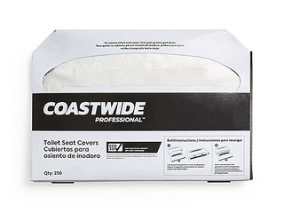 coastwide professional toilet seat covers one case 250 covers per pack 20 packs per carton