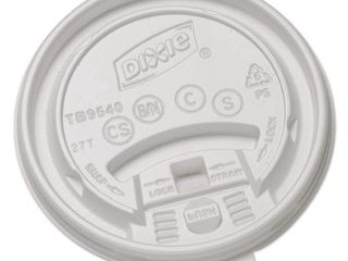 Dixie White Plastic lids for Hot Drink Cups  1000 Count  DXETB9540