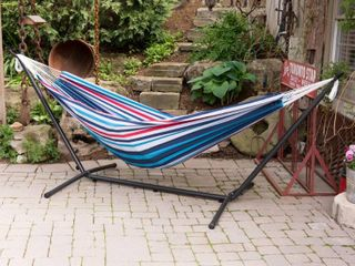 Vivere Double Hammock with Steel Stand