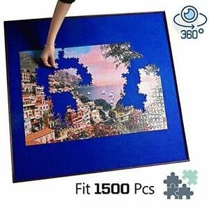 34 inch Square Jigsaw Puzzle Spinner Board Rotating Puzzle Table  Non Slip Felt Work Surface Puzzle Holder and Keeper up to 1500 Pieces  luxury Puzzle Organizer for Adults