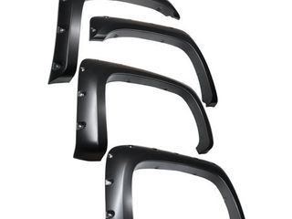 Tyger Auto TG FF8C4068 for 2007 2014 Chevy Silverado  NOT for Short Bed  Paintable Smooth Matte Black Pocket Bolt Riveted Style Fender Flare Set  4 Piece