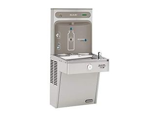 Elkay lVRCGRN8WSK Single High Efficiency Vandal Resistant Cooler  Filtered 8 GPH  Stainless Steel  TOP BOTTlE FIllING PIECE IS NOT INClUDED JUST THE BOTTOM FOUNTAIN