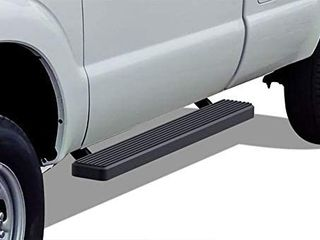 APS IBFZ4989 Black 5  Running Board Side Step  iBoard Third Generation  for Selected Ford F 250 F 350 SD Regular Cab  Aluminum