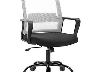 Home Office Chair Ergonomic Desk Chair Swivel Rolling Computer Chair Executive lumbar Support Task Mesh Chair Adjustable Stool for Women Men  White