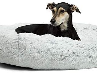 Best Friends by Sheri The Original Calming Donut Cat and Dog Bed in Shag Fur  large  Machine Washable