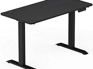 Shw Electric Height Adjustable Computer Desk 48 X 24 Inches Black