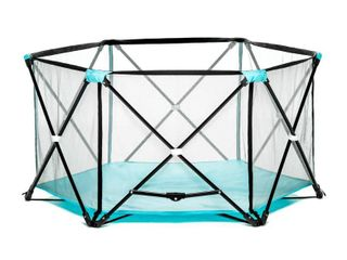 Regalo My Play Portable Playard Indoor and Outdoor with Carry Case and Washable  Aqua  6 Panel