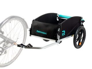 Retrospec Rover Hauler Cargo Bike Trailer  Tow Behind Extra Storage Bicycle Carrier  Foldable with 16 Inch Wheels  Teal