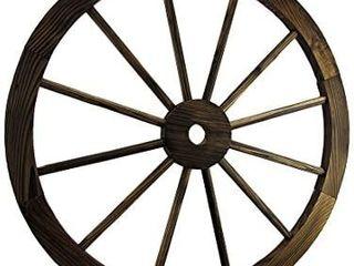 Zeckos 24 Inch Diameter Wooden Wagon Wheel Decorative Wall Hanging