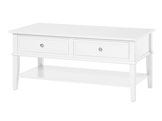 Ameriwood Home Franklin Coffee Table in Soft White