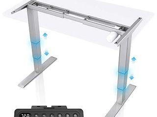 MAIDeSITe Electric Standing Desk Frame Adjustable Stand Up Desk Frame 3 Stage Ergonomic Sit Stand Desk Base with Memory Smart Controller