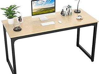 47 Computer Desk Modern Sturdy Office Desk PC laptop Notebook Study Writing Table for Home Office Workstation  Natural