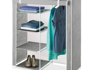 Whitmor Freestanding Closet With Gray Cover