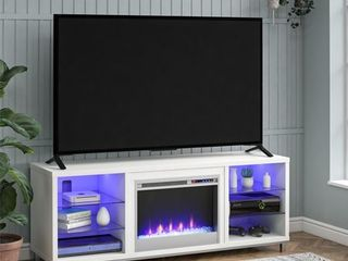 Ameriwood Home lumina Fireplace TV Stand for TVs up to 70  Wide  White