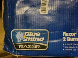 Blue Rhino Razor Black and Blue Power Coated 2 liquid Propane Gas Grill