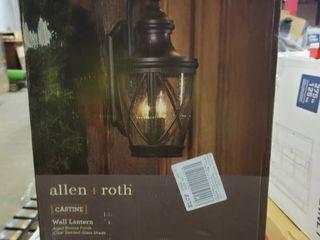 Allen   Roth Castine 3 light Outdoor Wall Mount light Aged Bronze 41992