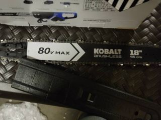 Kobalt 80 Volt Max lithium Ion 18 in Cordless Electric Chainsaw  Battery Included