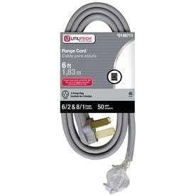 Utilitech 6  6 2   8 1 SRDT  3 Pole 3 Wire Range Cord