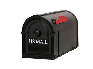 Postal Pro 8 in x 10 in Plastic Black Post Mount Mailbox