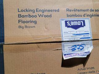 Style Selections 5 12 in Big Brown Bamboo Handscraped Engineered Hardwood Flooring  20 49 sq ft