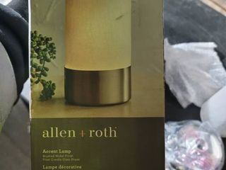 Touch Uplight Table lamp glass Shade Brushed Nickel   Allen   Roth 10 in