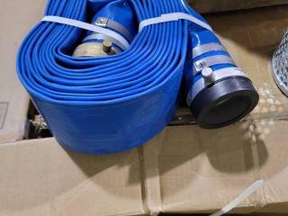 JGB Enterprises Eagle Hose PVC Aluminum Water Trash Pump Hose Kit  3  Green Suction Hose Coupled C x KCN  3  Blue Discharge Hose Coupled M x F WS