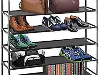 Halter Shoe Rack 5 Tier Shoe Rack Storage Organizer  Stackable Space Saving Shoe Shelf  Black