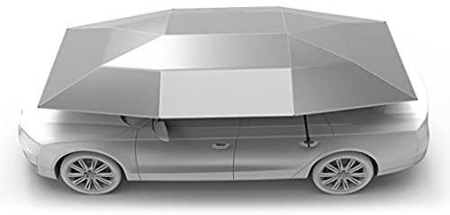 Rooftop Tent  Automatic Semi auto Manual Folded Car Umbrella  Portable Auto Protection Car Tent Sunshade  Movable Carport Canopy for Outdoor Camping Tent  2019 New Arrival 4 8M Silver