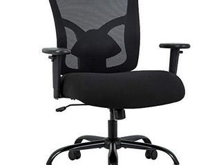 Big and Tall Office Chair 400lbs Cheap Desk Chair Mesh Computer Chair with lumbar Support Wide Seat Adjust Arms Rolling Swivel High Back Task Executive Ergonomic Chair for Women Men Black